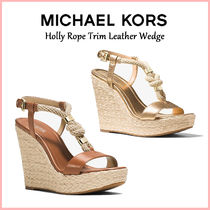 【国内発送】Holly Rope Trim Leather Wedge セール