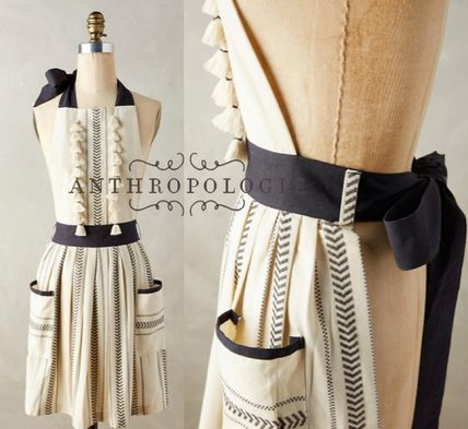 Anthropologie luxury Tassel with apron