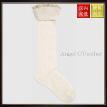 【グッチ】Stretch Cotton Socks With Ruffle レッグウェア