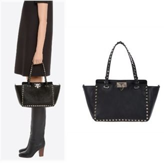 17-18 AW VALENTINO rock studded small tote bag