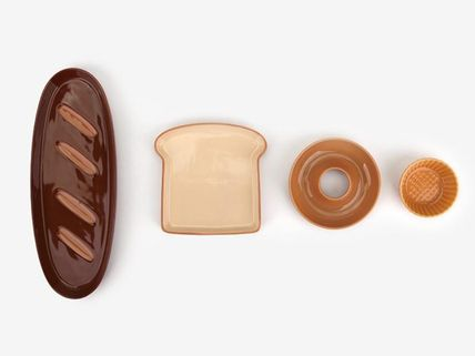 DAILYLIKE bread donut biscuit type plates, set of 4