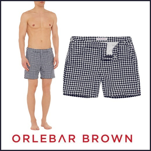 関税*送料込【Orlebar Brown】Navy Huron★水着BULLDOG♪