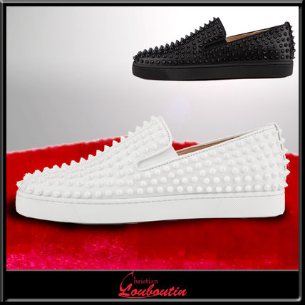 Christian Louboutin Roller-Boat Flat spike leather