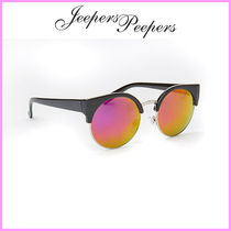 Jeepers Peepers(ジーパーズ ピーパーズ) サングラス 関送込☆Jeepers Peepers☆ピンクミラーレンズ猫目サングラス♪