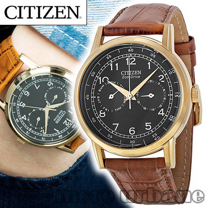 Citizen Mens Rose Gold Tone Eco Drive Watch AO9003-08E
