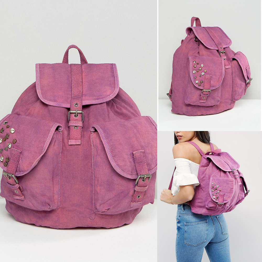 ★送関込★ASOS Oversized Canvas Acid Wash Backpack