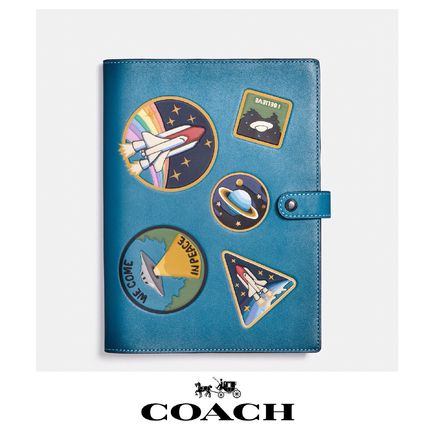 COACH leather note / sketchbook * limited edition retro