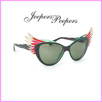 Jeepers Peepers(ジーパーズ ピーパーズ) サングラス 関送込☆Jeepers Peepers☆フェザーフレームレッドサングラス♪