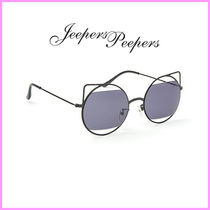 Jeepers Peepers(ジーパーズ ピーパーズ) サングラス 関送込☆Jeepers Peepers☆変わりレンズの猫目サングラス♪