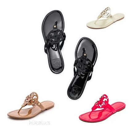 Tory Burch☆MILLER SANDAL、PATENT LEATHER【送料無料】