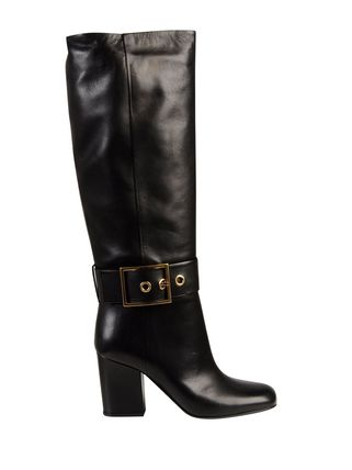 GUCCI(グッチ)☆Leather boots with buckle☆ブラック系