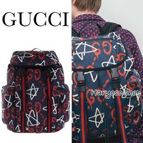 VIP価格★GUCCI★Gucci Ghostキャンバスバックパック