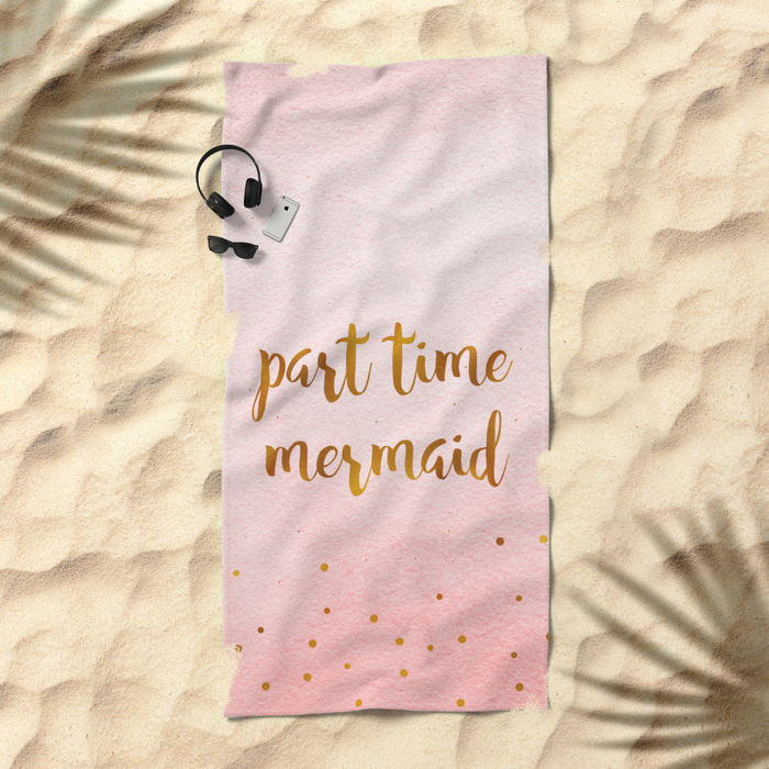 Society6♡ビーチタオル♡Part time mermaid
