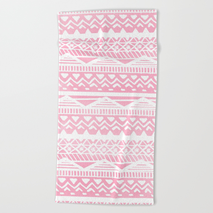 Society6♡ビーチタオル♡pink watercolor