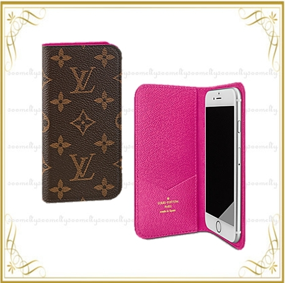Louis Vuitton iphone7plusケース フォリオ(ローズ)他4color