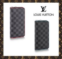 17SS【新作】★LOUIS VUITTON★ダミエ ZIPPY長財布 VELTICAL