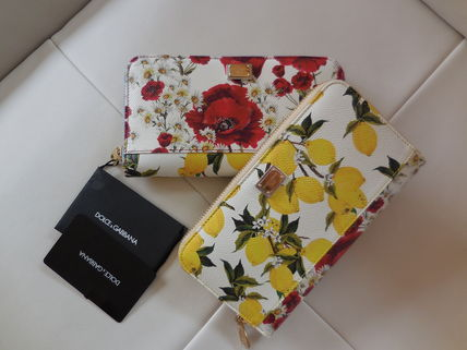 DOLCE &GABBANA lemon and Papaver long wallet and