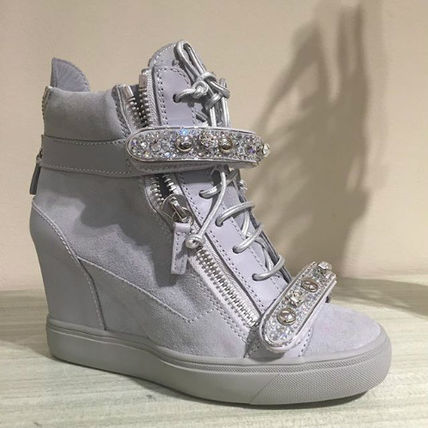 Joseppezanotti Jennifer Lopez wedge sneakers
