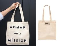 FEED(フィード) エコバッグ 国内発送 フィード*Woman On A Mission トート エコバッグ