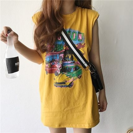 Casual printed Rock T shirt sleeveless 3 colors