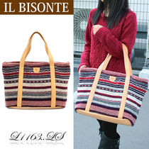 IL BISONTE トートバッグ L1163..LS LANA/SHEARLING