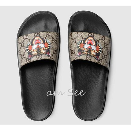 2017 SS GUCCI mens Sandals GG Supreme cat.
