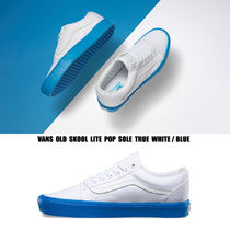 VANS★OLD SKOOL LITE★POP SOLE★22~28cm★TRUE WHITE/BLUE