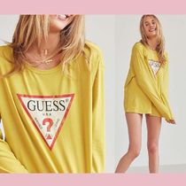 【Guess】新作セール★ロゴ長袖Tシャツ