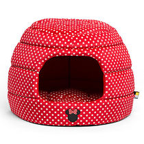 ディズニー Minnie Mouse Honeycomb Hut Pet Bed - Red -