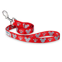 ディズニー Mickey Mouse Reflective Dog Lead - Red -