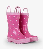hatley(ハットレイ) レインブーツ・長靴 【 Pink With White Dots Rain Boots 】★US4~