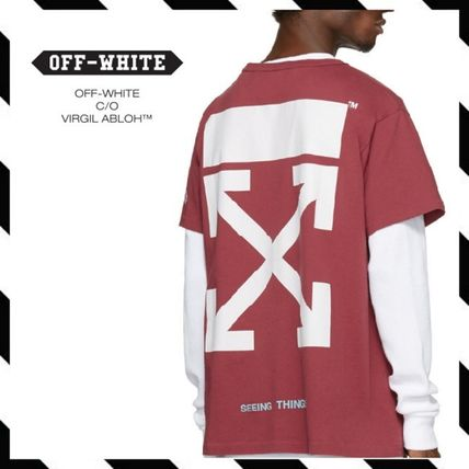 Off-White レッド アロー ロングT シャツ