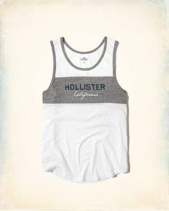Hollister Colorblock Logo Graphic Tank