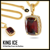 King Ice★14K Gold Ruby Crown Julz Necklace★送料税込/国内
