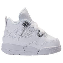 SS17 AIR JORDAN RETRO 4 PURE MONEY TD 10-16cm 白 送料無料