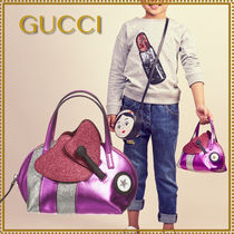 GUCCI(グッチ) キッズバッグ・財布その他 お洒落なメタリックピンク BEEバッグ★GUCCIグッチ