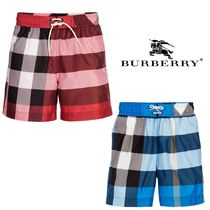 17SS【Burberry】4-14Y Boys タータンチェック水着 2color