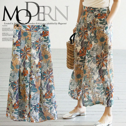 Wide pants women's spring summer / scans Gaucho PA /