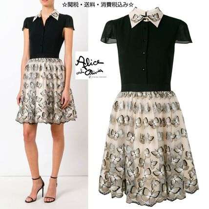 popular Alice+Olivia party dress with butterfly embroidery