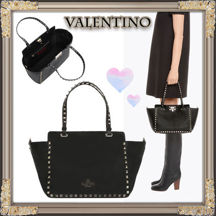 17 FW VALENTINO rock studded small tote