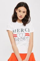 《キュートなロゴT♪》☆TOPSHOP☆Merci Graphic Print T-Shirt