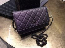 Chanel新作☆Dark Purple Chain Wallet☆