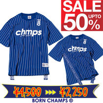 Born Champs(ボーン チャンプス) Tシャツ・カットソー [BORN CHAMPS]韓国人気! 8 CHAMPS TEE BLUE CEQBMTS09BL
