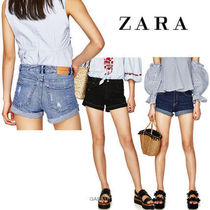 ●ZARA●HIGH RISE DENIM SHORTS
