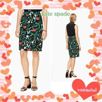 ケイトスペードスカート★jardin tile jacquard pencil skirt