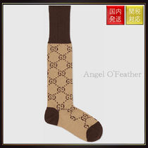 【グッチ】Gg Pattern Cotton Blend Socks レッグウェア