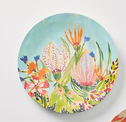Anthropologie☆Lulie Wallace Melamine お皿4枚セット 国内発送