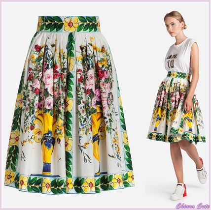 17th ss NEW Dolce & Gabbana_women flare skirt cotton