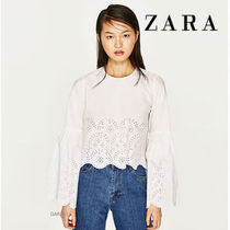 ●ZARA●TOP WITH TIED DETAIL