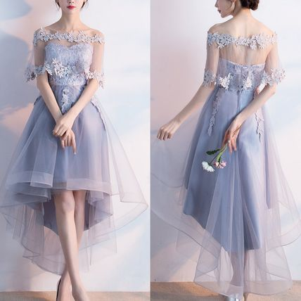 2way tulle dresses organza floral lace embroidery